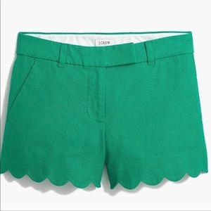 J.Crew Scallop Hem Shorts